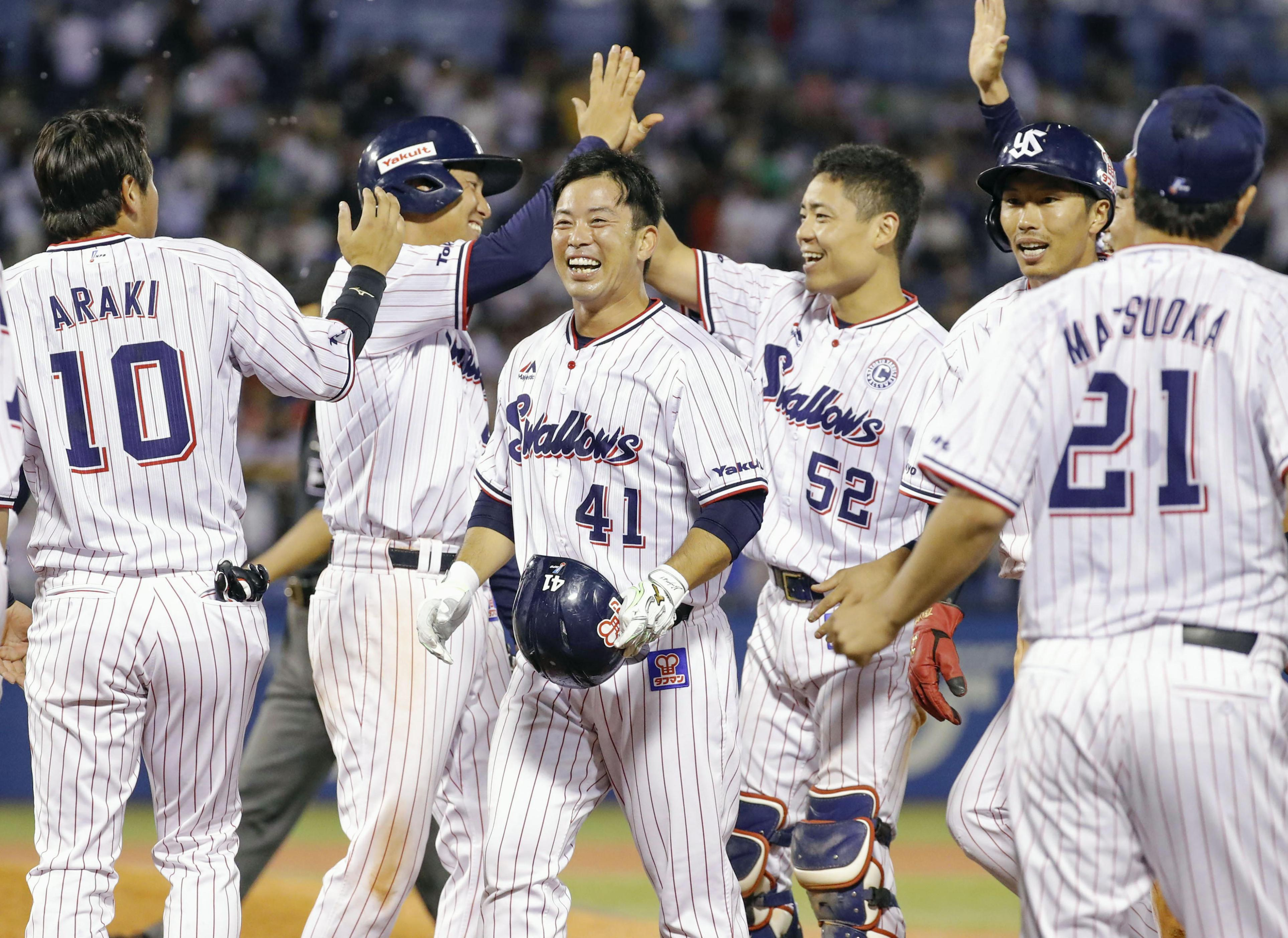 BASEBALL GATE              プロ野球            14年以来の1試合2発!東京ヤクルト・雄平がチームを7連勝に導く!