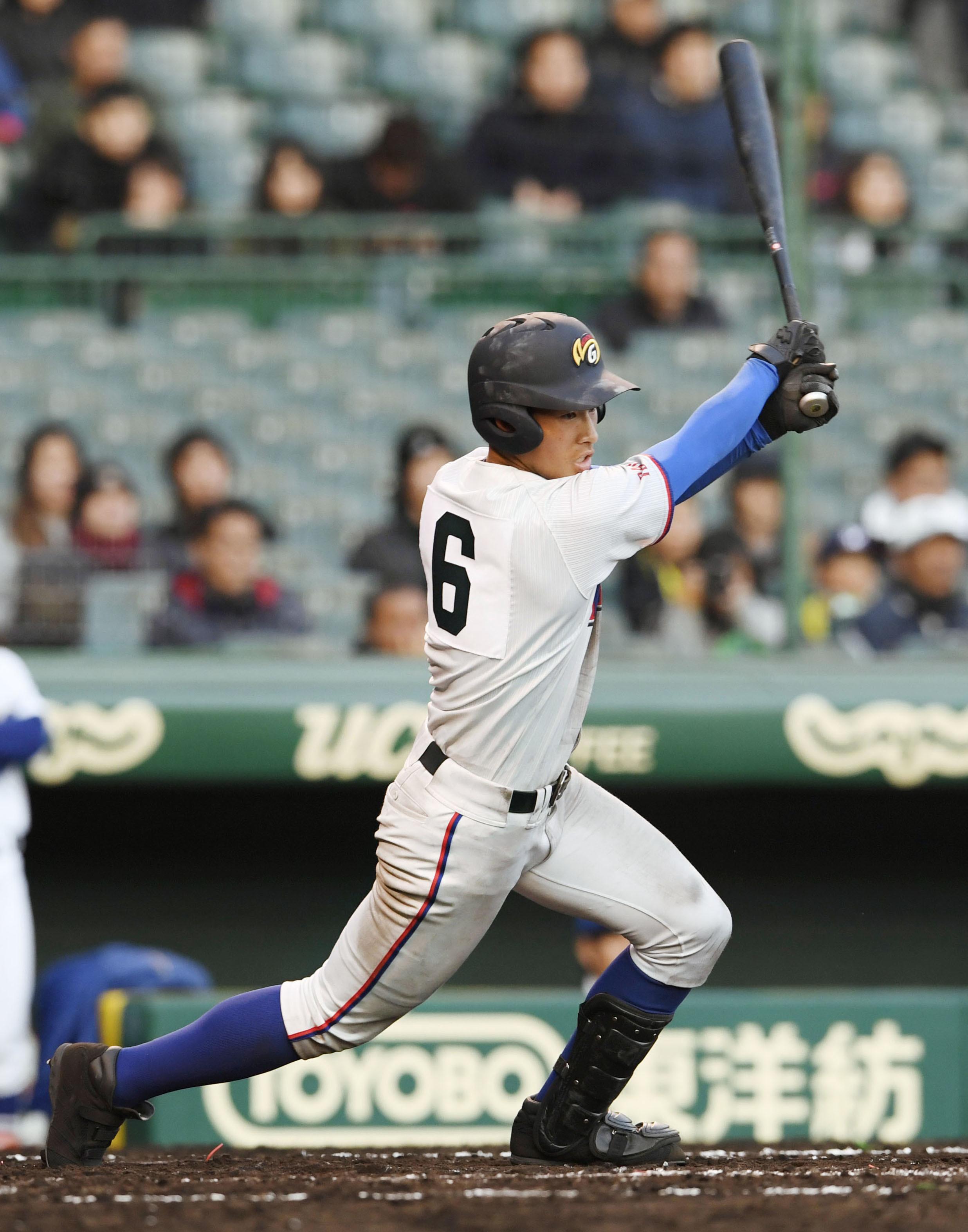 BASEBALL GATE              高校野球            フェンス直撃の衝撃 巨人・坂本が目標 増田陸(明秀日立)