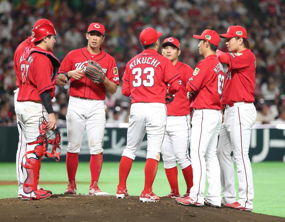広島・大瀬良も5回途中で降板 3―3の同点で5回を終了