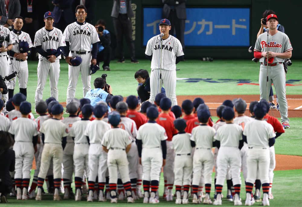 侍J・岡本が選手宣誓「最高のパフォーマンスを」