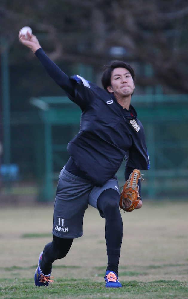 岸、零封宣言!日米野球第1戦先発 初の日の丸に「プレッシャーある」