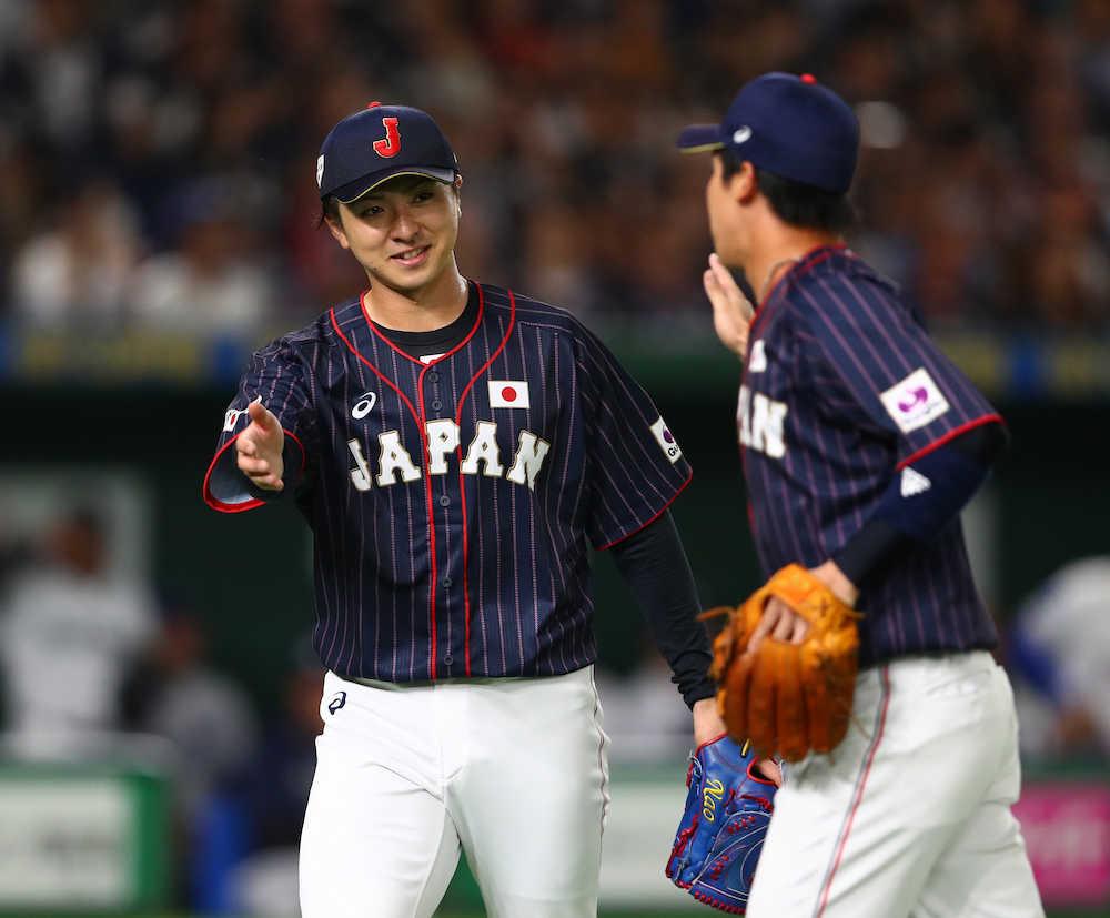 ハム上沢、侍初勝利 メジャー打線から圧巻7K「会沢さんのリードのおかげ」