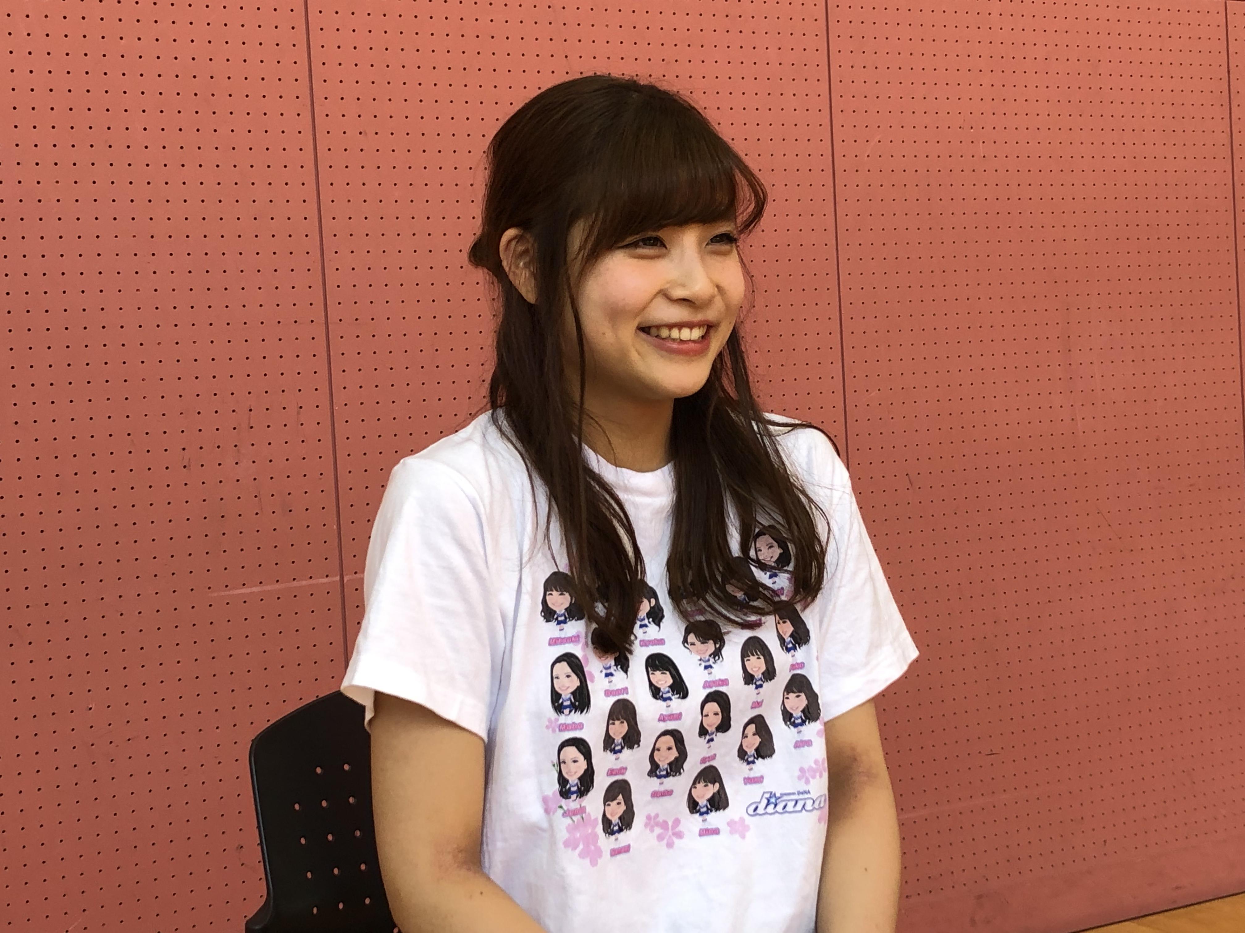 インタビューに答えるMitsukiさん