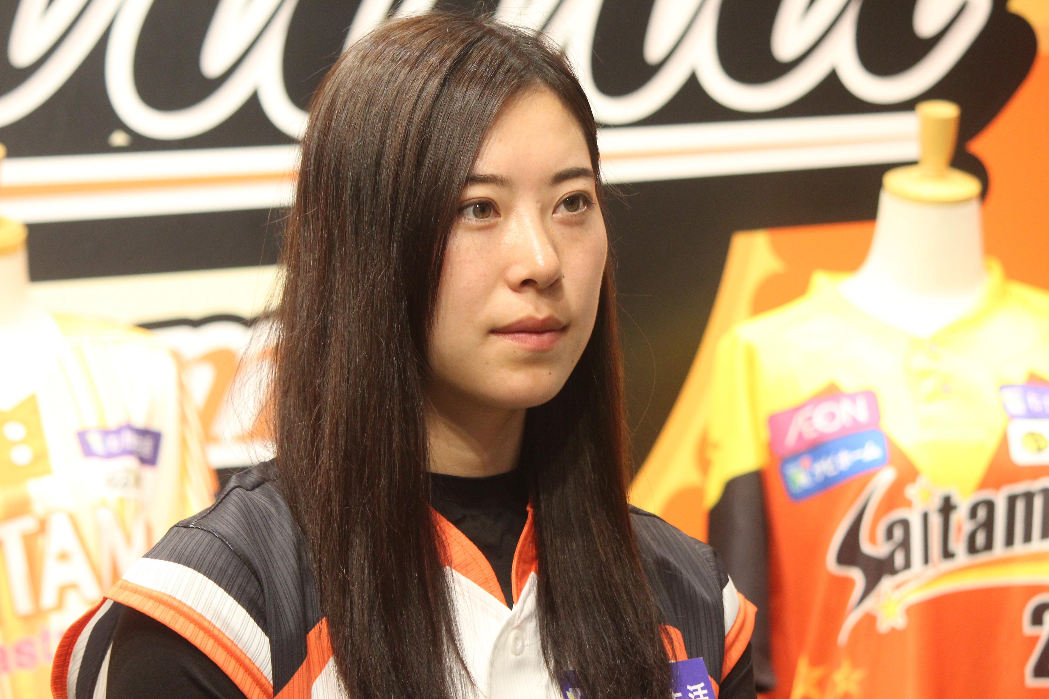 インタビューに答えてくれた埼玉アストライア みなみ選手