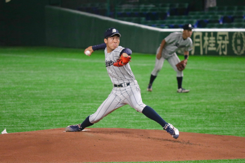 中山塁(なかやま・るい)・・・1997年12月13日生まれ。岡山県出身。ファイターズ岡山(硬式)→岡山南→佛教大4年。178㎝75㎏。右投右打。