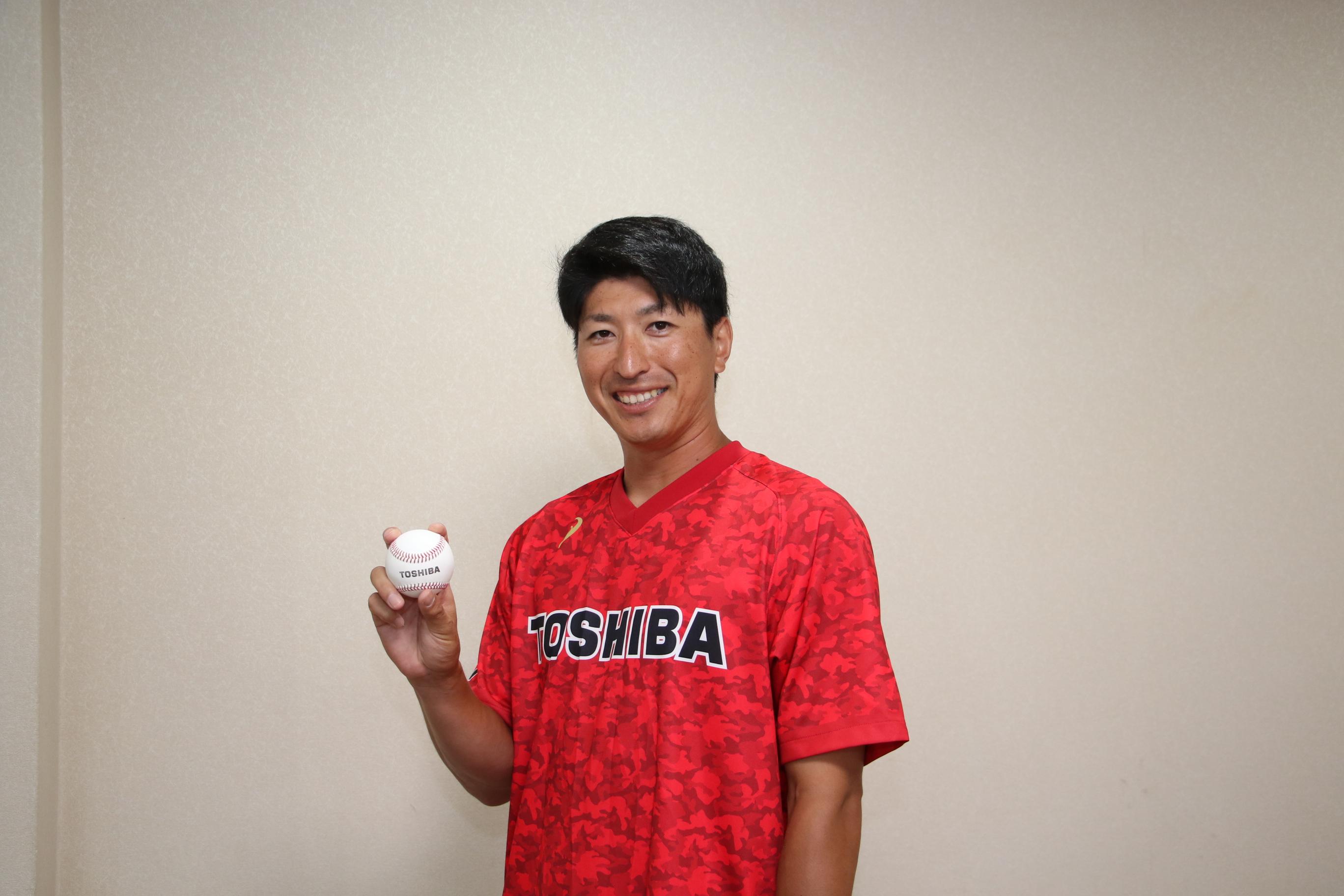 古巣の東芝野球部でコーチに就任した新垣勇人さん