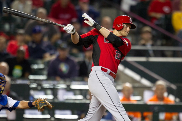 PHOENIX, AZ - MARCH 08: Michael Saunders #20 of Canada bats against Italy during the World Baseball Classic First Round Group D game on March 8, 2013 at Chase Field in Phoenix, Arizona. (Photo by Brace Hemmelgarn/Minnesota Twins/Getty Images)