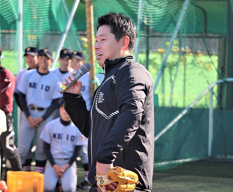 参加者に挨拶する田中浩康氏