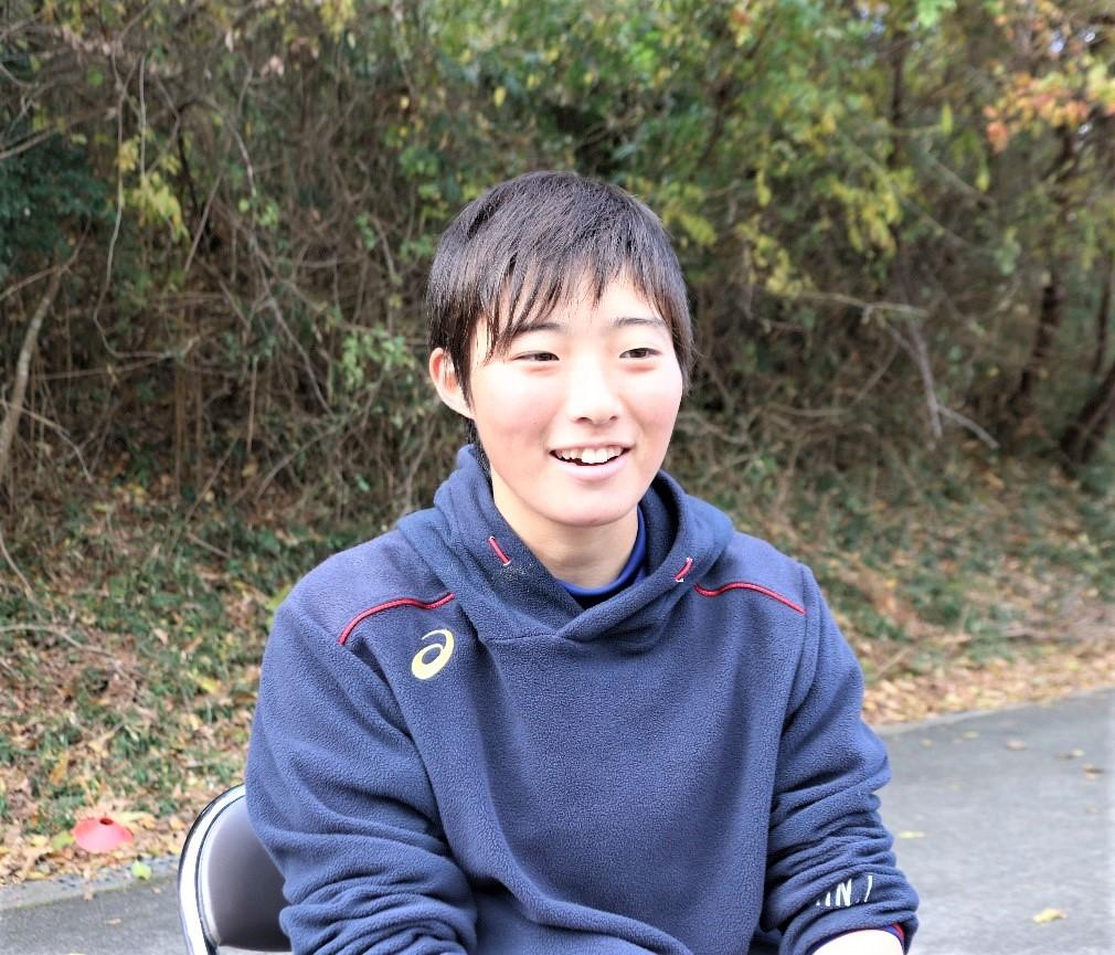 【インタビューに答える伊澤凜主将】